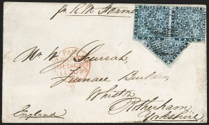 Sale Number 1214, Lot Number 1246, Canadian ProvincesNOVA SCOTIA, 1851, 3p Bright Blue, Half Used as 1-1/2p (2a; SG 3a), NOVA SCOTIA, 1851, 3p Bright Blue, Half Used as 1-1/2p (2a; SG 3a)