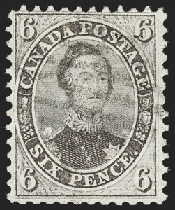 Sale Number 1214, Lot Number 1257, Canada thru 1898 Jubilee IssueCANADA, 1859, 6p Brown Violet (13; SG 27), CANADA, 1859, 6p Brown Violet (13; SG 27)