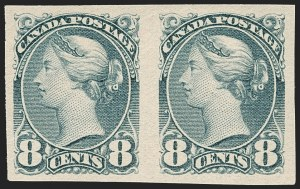 Sale Number 1214, Lot Number 1262, Canada thru 1898 Jubilee IssueCANADA, 1895, 8c Blue Gray, Imperforate (44d; SG 117a), CANADA, 1895, 8c Blue Gray, Imperforate (44d; SG 117a)