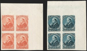 Sale Number 1214, Lot Number 1263, Canada thru 1898 Jubilee IssueCANADA, 1893, 20c Vermilion, 50c Deep Violet Blue, Imperforate (46a-47a; SG 115a-116a), CANADA, 1893, 20c Vermilion, 50c Deep Violet Blue, Imperforate (46a-47a; SG 115a-116a)