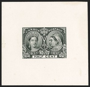 Sale Number 1214, Lot Number 1264, Canada thru 1898 Jubilee IssueCANADA, 1897, -1/2c Jubilee, Large Die Proof (50P), CANADA, 1897, -1/2c Jubilee, Large Die Proof (50P)
