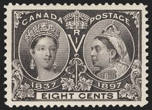 Sale Number 1214, Lot Number 1267, Canada thru 1898 Jubilee IssueCANADA, 1897, 8c Jubilee (56), CANADA, 1897, 8c Jubilee (56)