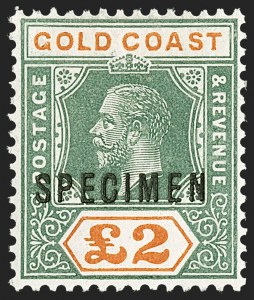 "Sale Number 1214, Lot Number 1325, Fiji thru Hong KongGOLD COAST, 1921-25, -1/2p-£2 King George V, ""Specimen"" Overprint (83S-95S; SG 86s-102s), GOLD COAST, 1921-25, -1/2p-£2 King George V, ""Specimen"" Overprint (83S-95S; SG 86s-102s)"