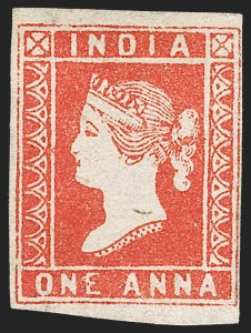 Sale Number 1214, Lot Number 1330, IndiaINDIA, 1854, 1a Red (SG 12; Scott 4), INDIA, 1854, 1a Red (SG 12; Scott 4)