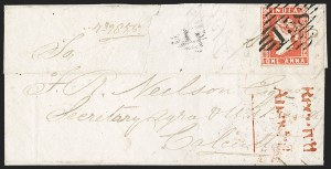 Sale Number 1214, Lot Number 1331, IndiaINDIA, 1854, 1a Red (SG 12; Scott 4), INDIA, 1854, 1a Red (SG 12; Scott 4)