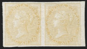 Sale Number 1214, Lot Number 1340, IndiaINDIA, 1855-64, 2a Yellow-Buff, Imperforate (SG 42a; Scott 15b), INDIA, 1855-64, 2a Yellow-Buff, Imperforate (SG 42a; Scott 15b)
