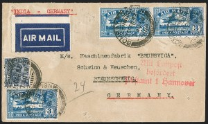 "Sale Number 1214, Lot Number 1344, IndiaINDIA, 1929, 3a Deep Blue, ""1"" for Second ""I"" in ""India"" (SG 221b), INDIA, 1929, 3a Deep Blue, ""1"" for Second ""I"" in ""India"" (SG 221b)"