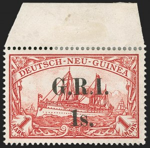 Sale Number 1214, Lot Number 1382, Mauritius thru New BritainNEW BRITAIN, 1914, 1sh on 1m Carmine (12; SG 12), NEW BRITAIN, 1914, 1sh on 1m Carmine (12; SG 12)