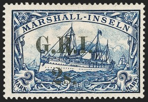 Sale Number 1214, Lot Number 1383, Mauritius thru New BritainNEW BRITAIN, 1914, 2sh on 2m Blue (40; SG 60), NEW BRITAIN, 1914, 2sh on 2m Blue (40; SG 60)