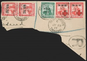 Sale Number 1214, Lot Number 1433, Togo thru ZululandTRINIDAD & TOBAGO, 1917, 1p Scarlet, War Tax, Inverted Overprint (MR1a; SG 176a), TRINIDAD & TOBAGO, 1917, 1p Scarlet, War Tax, Inverted Overprint (MR1a; SG 176a)