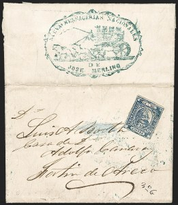 "Sale Number 1214, Lot Number 1443, Argentina thru BelgiumARGENTINA, Buenos Aires, 1859, 1p (""In Ps"") Blue (7), ARGENTINA, Buenos Aires, 1859, 1p (""In Ps"") Blue (7)"