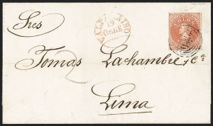 Sale Number 1214, Lot Number 1475, Bulgaria thru ChileCHILE, 1854, 5c Red Brown, Lithograph (7a), CHILE, 1854, 5c Red Brown, Lithograph (7a)
