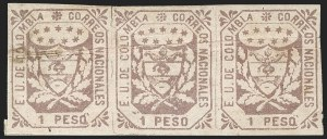 Sale Number 1214, Lot Number 1506, ColombiaCOLOMBIA, 1864, 1p Red Violet (34), COLOMBIA, 1864, 1p Red Violet (34)