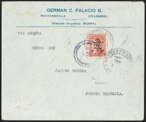 Sale Number 1214, Lot Number 1508, Colombia - Air Post IssuesCOLOMBIA, 1919, 2c Knox Martin Air Post (C1), COLOMBIA, 1919, 2c Knox Martin Air Post (C1)
