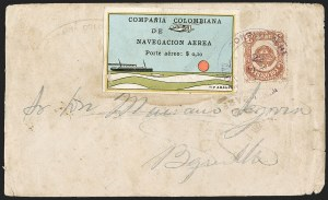"Sale Number 1214, Lot Number 1522, Colombia - Air Post IssuesCOLOMBIA, 1920, 10c ""SCADTA"", Ocean Liner (C10), COLOMBIA, 1920, 10c ""SCADTA"", Ocean Liner (C10)"