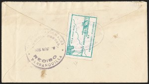 Sale Number 1214, Lot Number 1527, Colombia - Air Post IssuesCOLOMBIA, 1920, 10c Green, Air Post - June 22, 1920 Flight (C11; Sanabria 11), COLOMBIA, 1920, 10c Green, Air Post - June 22, 1920 Flight (C11; Sanabria 11)