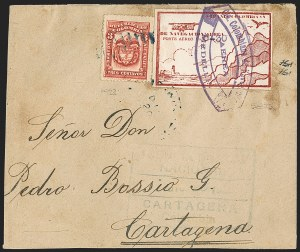 Sale Number 1214, Lot Number 1533, Colombia - Air Post IssuesCOLOMBIA, 1920, 30c on 10c Air Post, Typewritten Surcharge (C11H; Sanabria 29), COLOMBIA, 1920, 30c on 10c Air Post, Typewritten Surcharge (C11H; Sanabria 29)