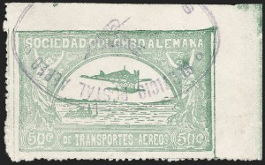 Sale Number 1214, Lot Number 1538, Colombia - Air Post IssuesCOLOMBIA, 1920, 50c Pale Green (C16), COLOMBIA, 1920, 50c Pale Green (C16)