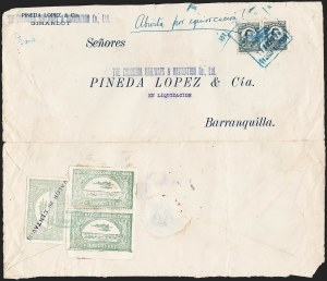 "Sale Number 1214, Lot Number 1541, Colombia - Air Post IssuesCOLOMBIA, 1921, ""Valor 30 Centavos"" on 50c Pale Green, Inverted Air Post Surcharge (Colomphil 23a; Scott C20 var), COLOMBIA, 1921, ""Valor 30 Centavos"" on 50c Pale Green, Inverted Air Post Surcharge (Colomphil 23a; Scott C20 var)"