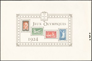 Sale Number 1214, Lot Number 1563, FranceFRANCE, 1924, 10c-50c Olympics, Collective Deluxe Proof (198-201P; Yvert 183-186P), FRANCE, 1924, 10c-50c Olympics, Collective Deluxe Proof (198-201P; Yvert 183-186P)