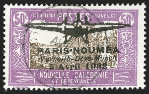 Sale Number 1214, Lot Number 1616, French Colonies - French Polynesia thru ObockNEW CALEDONIA, 1932, 40c-50c Paris-Noumea Flight Issue (180-181; Yvert PA1-PA2), NEW CALEDONIA, 1932, 40c-50c Paris-Noumea Flight Issue (180-181; Yvert PA1-PA2)