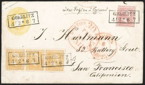 Sale Number 1214, Lot Number 1661, German New Guinea thru Germany and AreaGERMAN STATES, PRUSSIA, 1858-60, 1sg Rose, 3sg Orange (11, 13; Michel 10a, 12a), GERMAN STATES, PRUSSIA, 1858-60, 1sg Rose, 3sg Orange (11, 13; Michel 10a, 12a)