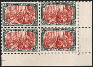 Sale Number 1214, Lot Number 1664, German New Guinea thru Germany and AreaGERMANY, 1900, 5m Slate & Carmine, Ty. II (65A; Michel 66II), GERMANY, 1900, 5m Slate & Carmine, Ty. II (65A; Michel 66II)