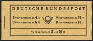 Sale Number 1214, Lot Number 1669, German New Guinea thru Germany and AreaGERMANY, 1951, 2m50pf Posthorn Booklet (Michel MH1), GERMANY, 1951, 2m50pf Posthorn Booklet (Michel MH1)