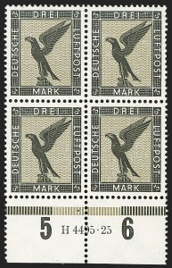 Sale Number 1214, Lot Number 1672, German New Guinea thru Germany and AreaGERMANY, 1926-27, 5pf-3m Air Post (C27-C34; Michel 378-384), GERMANY, 1926-27, 5pf-3m Air Post (C27-C34; Michel 378-384)