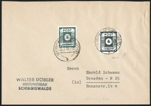 Sale Number 1214, Lot Number 1675, German New Guinea thru Germany and AreaGERMANY, East Saxony, 1945, 6pf Green Black, Imperforate (Michel 43Ac), GERMANY, East Saxony, 1945, 6pf Green Black, Imperforate (Michel 43Ac)
