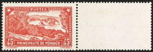 Sale Number 1214, Lot Number 1702, MonacoMONACO, 1932, 45c Red (115a; Yvert 123a), MONACO, 1932, 45c Red (115a; Yvert 123a)