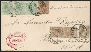 Sale Number 1214, Lot Number 1743, Puerto Rico thru RussiaPUERTO RICO, 1882, 6m Brown, 8m Yellow Green (61, 62), PUERTO RICO, 1882, 6m Brown, 8m Yellow Green (61, 62)