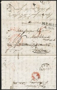 Sale Number 1215, Lot Number 2086, Early Boston Postal History: 1816 and later(St. Petersburg, Russia, to Marblehead Mass. via Hamburg, London and Boston, Oct. 1829), (St. Petersburg, Russia, to Marblehead Mass. via Hamburg, London and Boston, Oct. 1829)
