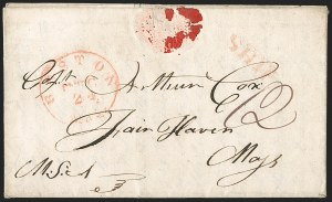 Sale Number 1215, Lot Number 2094, Early Boston Postal History: 1816 and later(Hawaii to Fairhaven Mass, (Hawaii to Fairhaven Mass