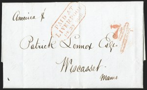 Sale Number 1215, Lot Number 2097, Early Boston Postal History: 1816 and later1849 Restored Rates, 1849 Restored Rates
