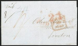 Sale Number 1215, Lot Number 2098, Early Boston Postal History: 1816 and later(Boston to London, Feb. 21, 1849) First Cunard Sailing of Treaty Rate Period, (Boston to London, Feb. 21, 1849) First Cunard Sailing of Treaty Rate Period