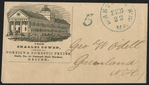 Sale Number 1215, Lot Number 2102, Early Boston Postal History: 1816 and laterEastern R.R. Ms. Feb. 22 (1851), Eastern R.R. Ms. Feb. 22 (1851)