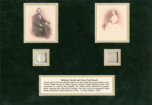 Sale Number 1215, Lot Number 2132A, Presidential Free FranksAbraham Lincoln and Mary Todd Lincoln, Abraham Lincoln and Mary Todd Lincoln