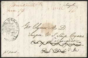 Sale Number 1215, Lot Number 2173, Ship Letters and Waterway MailU.S. Naval Lyceum, U.S. Naval Lyceum