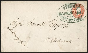 "Sale Number 1215, Lot Number 2178, Ship Letters and Waterway Mail""Steamer Morning Light, Capt. Wm. Dillon"", ""Steamer Morning Light, Capt. Wm. Dillon"""