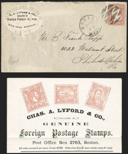Sale Number 1215, Lot Number 2193, Philatelic History from the Trenchard Collection3c Red, F. Grill (94), 3c Red, F. Grill (94)