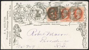 Sale Number 1215, Lot Number 2197, Philatelic History from the Trenchard Collection2c Vermilion (183), 2c Vermilion (183)