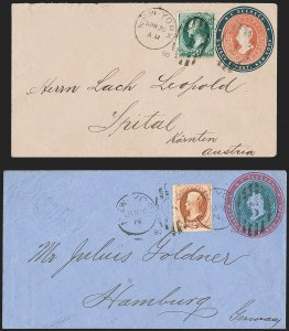 Sale Number 1215, Lot Number 2198, Philatelic History from the Trenchard Collection2c Vermilion, 3c Green (183, 184), 2c Vermilion, 3c Green (183, 184)