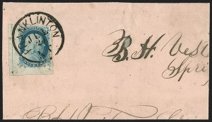 Sale Number 1215, Lot Number 2253, 1851-56 Issue1c Blue, Ty. IV (9), 1c Blue, Ty. IV (9)