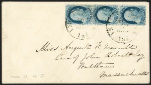 Sale Number 1215, Lot Number 2266, 1857-60 Issue1c Blue, Ty. II (20), 1c Blue, Ty. II (20)