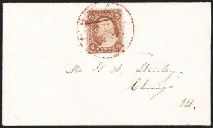 Sale Number 1215, Lot Number 2268, 1857-60 Issue3c Dull Red, Ty. III, Plate Crack (26 var), 3c Dull Red, Ty. III, Plate Crack (26 var)