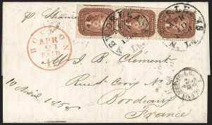 Sale Number 1215, Lot Number 2271, 1857-60 Issue5c Indian Red (28A), 5c Indian Red (28A)