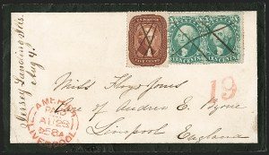 Sale Number 1215, Lot Number 2272, 1857-60 Issue5c Indian Red (28A), 5c Indian Red (28A)