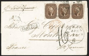 Sale Number 1215, Lot Number 2279, 1857-60 Issue5c Brown, Ty. II (30A), 5c Brown, Ty. II (30A)