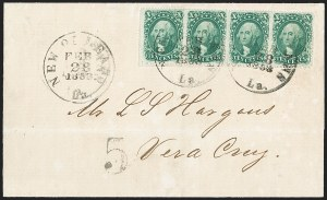 Sale Number 1215, Lot Number 2280, 1857-60 Issue10c Green, Ty. I (31), 10c Green, Ty. I (31)